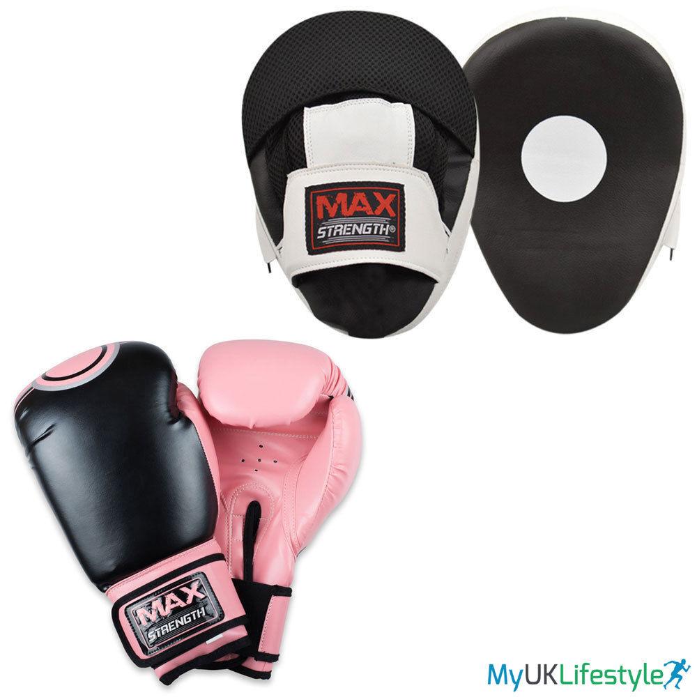 Damen rosa fokuspad & Boxhandschuhe MMA punhcin Tranning Fausthandschuh Thai