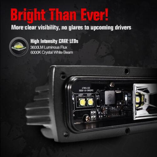 40W LED Light Bar Pod Lamp Flush Mount for Car Offroad SUV UTV ATV Pickup Truck