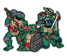"""Teenage Mutant Ninja Turtles - Cartoon - Embroidered Iron On Patch - 4 1/8""""W"""