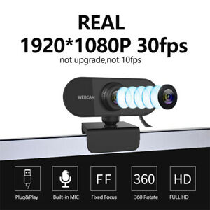 WEBCAM HD 1080P Con Microfono USB Smart Working Skype Video Camera Per PC L3J2
