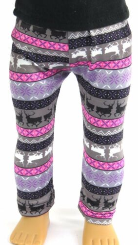 Reindeer Knit Leggings for 18 inch American Girl Doll Clothes Accessories