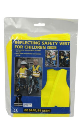 Kinder Warnweste Sicherheitsweste Gelb Schulanfänger Reflektierende Unfallweste
