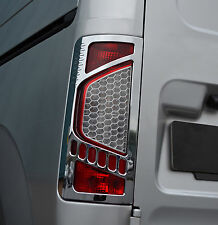 CHROME REAR TAIL LIGHTS TRIM COVERS SURROUNDS FOR FORD TOURNEO CONNECT 09-13