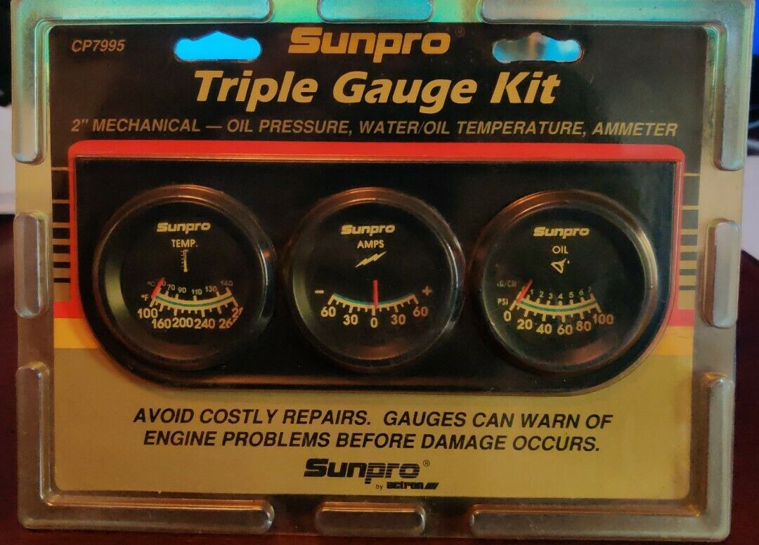 Chrome Gauge Mounting Panel CP7579 W// Hardware Details about  /Sunpro Single 2 Inch 52cm