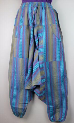 Cotton UNISEX Trousers Hippie Alibaba Boho Harem Baggy Pants Aladdin Yoga AB5