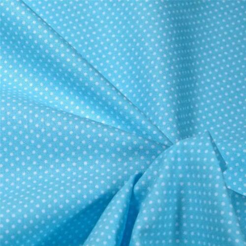 "White on Pale Aqua SPX Best Friends Cotton Fabric,16.5/""Wx44/""L Tiny Polka Dot"