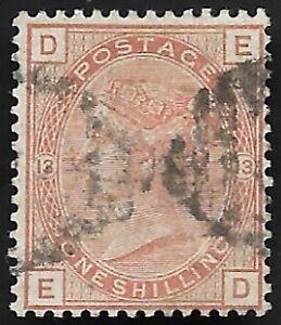 1881-QV-SG163-1s-Orange-Brown-ED-Plate-13-Very-Fine-Used-CV-170