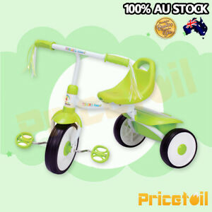 e8f1e15140d Green Foldable Kid Child 3 Wheel Bike Trike Tricycle with trailer ...