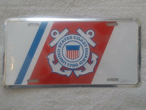 United States Coast Guard Crest Insignia Embossed License Plate