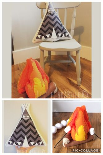 pretend Play New Felt Campfire Handmade Fire Flames Playset For Children Kids