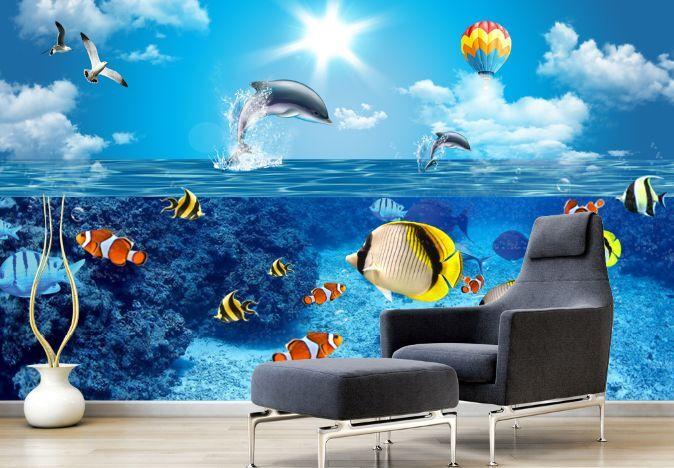 3D Schöne Ozean 1980 Fototapeten Wandbild Fototapete BildTapete Familie