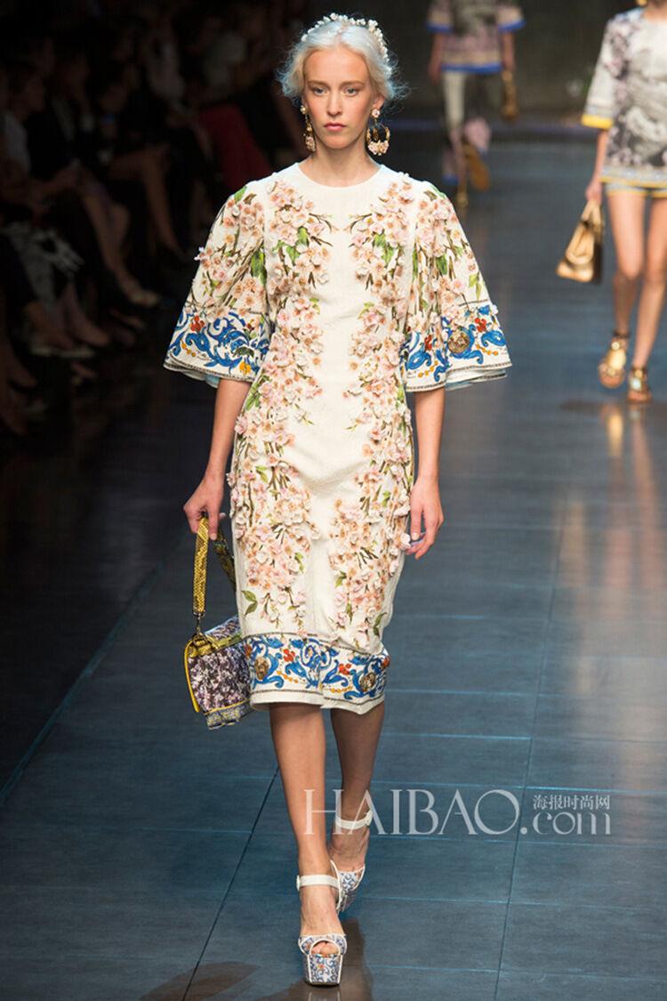 Damen Runway Sticken Designer Inspiriert Sommerkleid