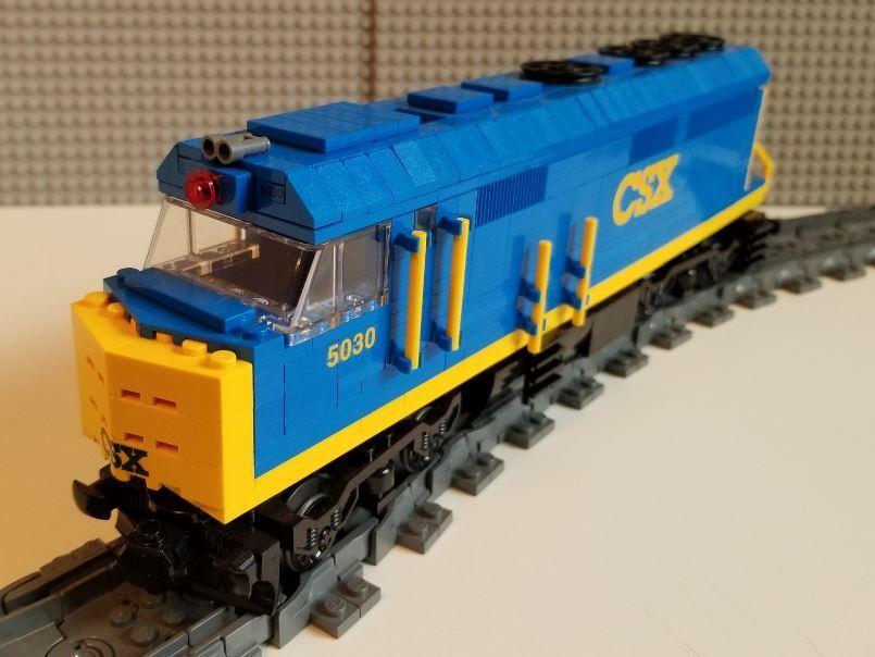 Lego Train Custom CSX F40ph READ Item description PLEASE