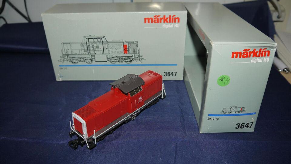 UDSOLGT Marklin 3647 Br 212 242-3 Diesel Lok Le...