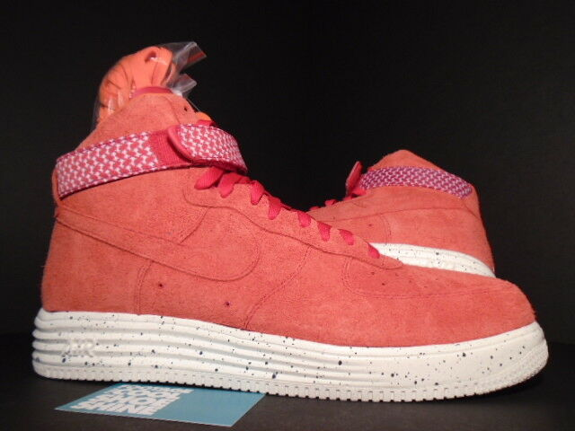 Nike LUNAR AIR FORCE 1 HI UNDFTD SP UNDEFEATED ROSSO BIANCA ORANGE 652806-660 DS 11