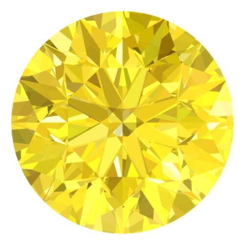 1.9 MM CERTIFIED Round Fancy Yellow Color Loose Natural Diamond Wholesale Lot