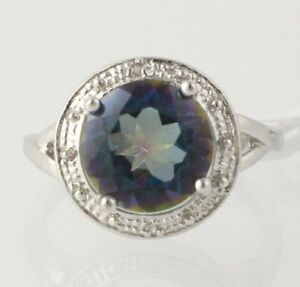 NEW-Mystic-Topaz-Cocktail-Ring-925-Sterling-Silver-Band-Diamond-Accents-Womens