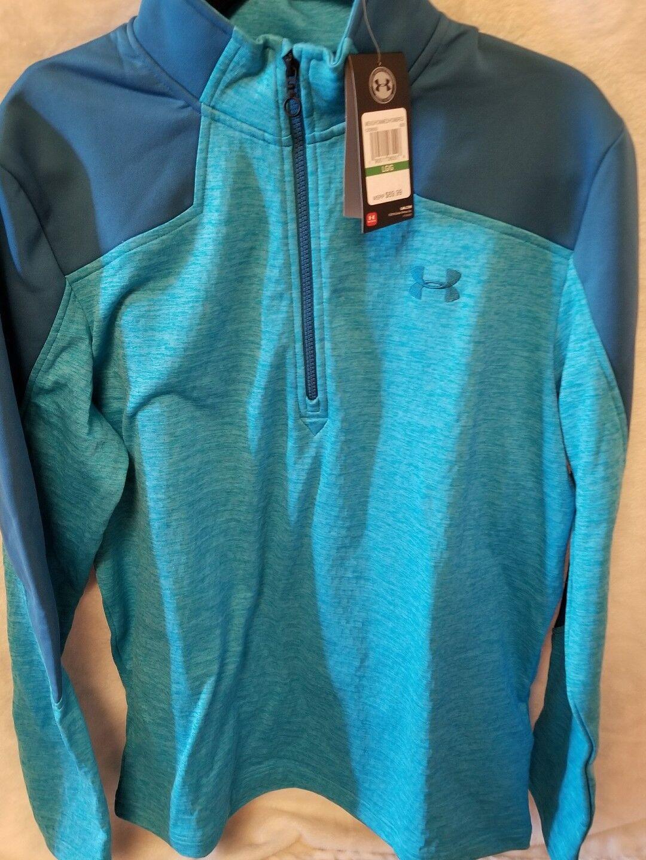 UA Cold Gear fleece 1/4 Zip Farbe light Blau Größe Large