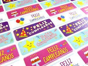 Image Is Loading Feliz Cumpleanos Spanish Happy Birthday Labels Stickers For