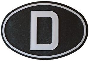 Schwarzes-Relief-D-Schild-3D-Deutschland-D-Schild-12-cm-RICHTER-HR-Art-15852
