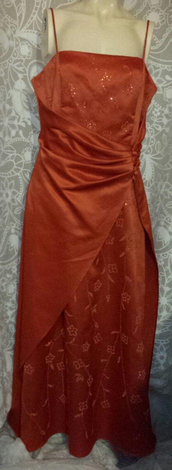 Gino Cerutti Orange 2 pièces Ltd Edition Taille L robe de soirée + étole Bnwt Rrp