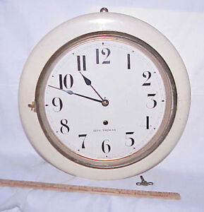 Scarce Antique Seth Thomas Arctic Gallery Wall Clock Made In Usa