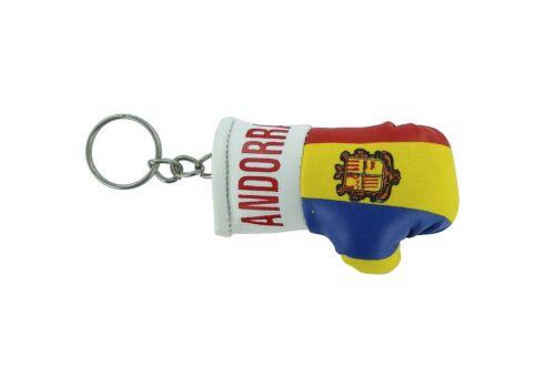 Keychain Mini boxing gloves key chain ring flag key ring cute andorra