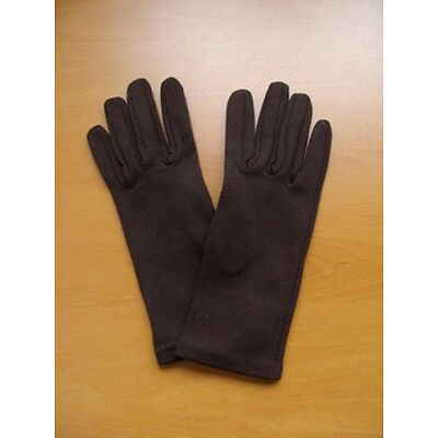 BRAND NEW BROWN SYNTHETIC GLOVES WOMEN WOMAN SIZE MEDIUM