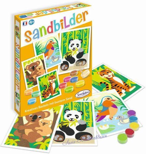 Sentosphere 4 Sandbilder Wildtiere Bilder gestalten mit Sand Pandabär Koala