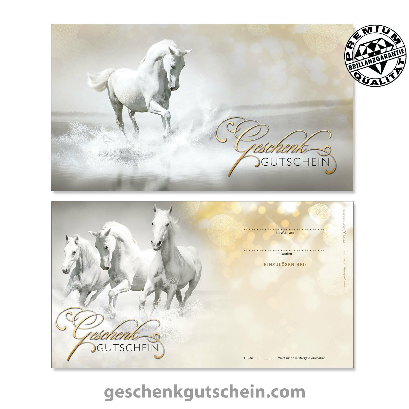 Gutscheinkarten mit KuGrüns und und und Schleifen für Reitsport Sport Pferde  SP1229 b4e1a9