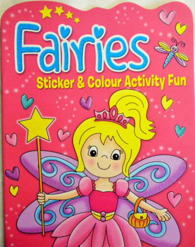 4 Books to Collect 260 Stickers Fairies Sticker /& Colour Activity Fun Book