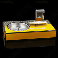 Cohiba Hi-Q Rectangle Cigar Ashtray And Classic Lighter Set With  2 Size Punch
