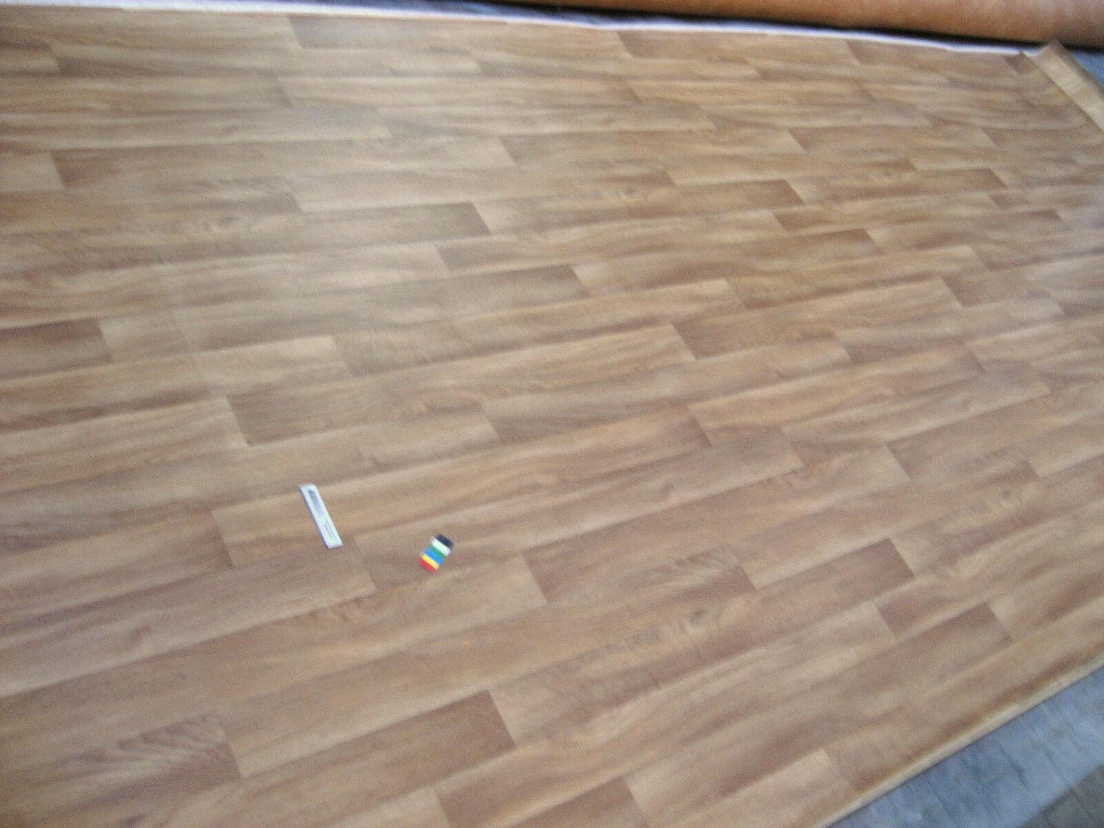 7768 PVC CV Belag Rest 347x200 Boden sehr Robust Eiche Holzdekor Gewerbe günstig