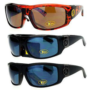 e8497232b4 SA106 Lion Emblem Thick Plastic Mens Luxury Biker Sport Sunglasses ...