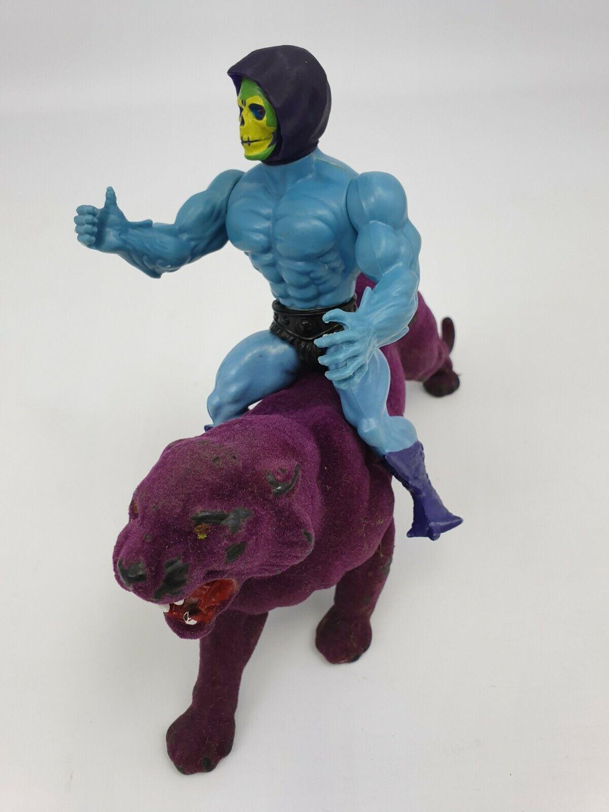 Skeletor et Panthor Chat Wirkung Figurines Motu Masters de Univers Mattel