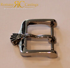 Vintage Rolex Stainless Steel Big Crown Watch Buckle Dipped in 18ct White Gold