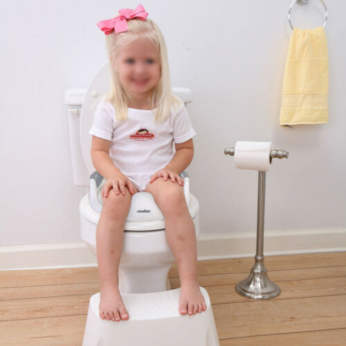 Luxury Oval Shape Heavy Duty Soft Close White Toilet Seat Cover Padded For Child