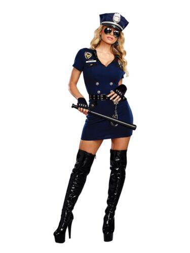 Down Blue XL Dreamgirl Women`s Officer Pat U