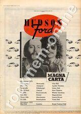 Hudson-Ford Magna Carta Edinburgh Usher Hall MM3 Tour advert 1973