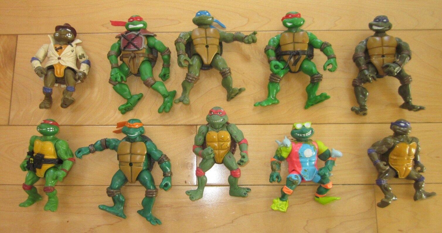 Vintage Teenage Mutant Ninja Turtles Figures From 1988 to 2003
