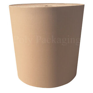 150m PACKAGING PACKING ROLLS 2 x 500mm x 75m CORRUGATED CARDBOARD PAPER ROLLS