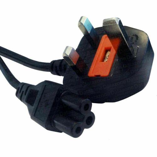 1m-10m Noir IEC C5-UK secteur de feuille de trèfle Mickey Mouse câbles d/'alimentation Cordons Lot