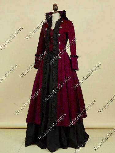 Victorian Costumes: Dresses, Saloon Girls, Southern Belle, Witch    Victorian Edwardian Game of Thrones Coat Dress Vampire Halloween Costume 176 $195.00 AT vintagedancer.com