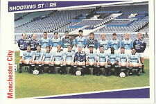 MANCHESTER CITY 18 x SHOOTING STARS Cards by MERLIN Publishing Ltd 1991/2