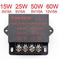Dc 24v To 12v Power Regulator Converter Adapter Supply 15w 25w 50w 60w 5a/10a