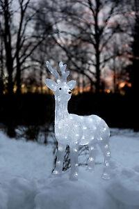 led acryl rentier elch 64 cm beleuchtet weihnachtselch 80 led au en 70382 ebay. Black Bedroom Furniture Sets. Home Design Ideas