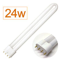 Aqua One Compatible Light Bulb 4 Pin PL Tube 24w for Aquarium Fish Tank (white)