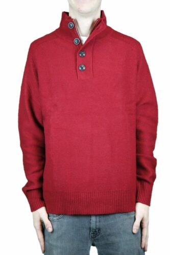 CCC Canterbury of New Zealand Cordovan Henley Elbow Patch Sweater Sz M $158 NEW
