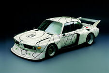 1976 BMW 3.0 CSL TURBO E9 FRANK STELLA ART CAR POSTER PRINT 24x36 HI RES