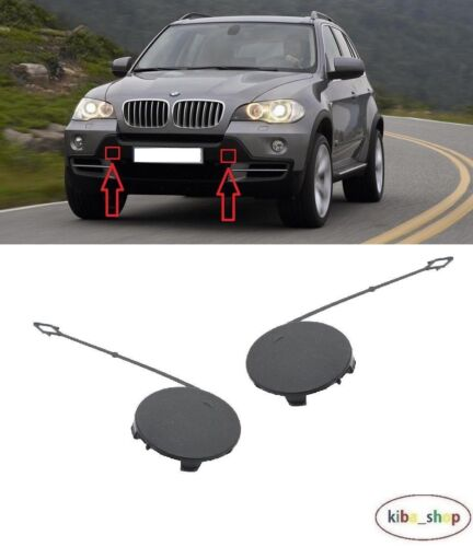 RIGHT BMW X5 SERIES E70 2006-2010 FRONT BUMPER TOWING HOOK COVER CAP LEFT